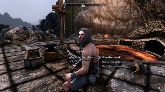Skyrim 伝説の鍛冶屋と会話