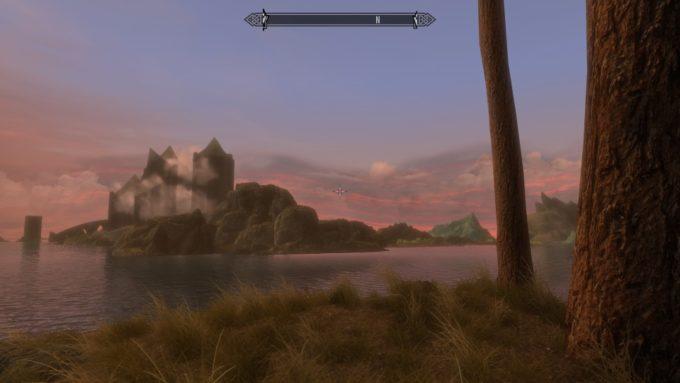 Skyrim 夕焼けの景色
