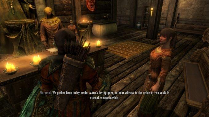 Skyrim ゲームの中での結婚式