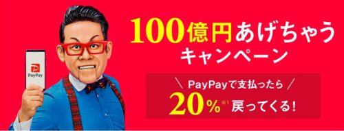 PayPay 20% back