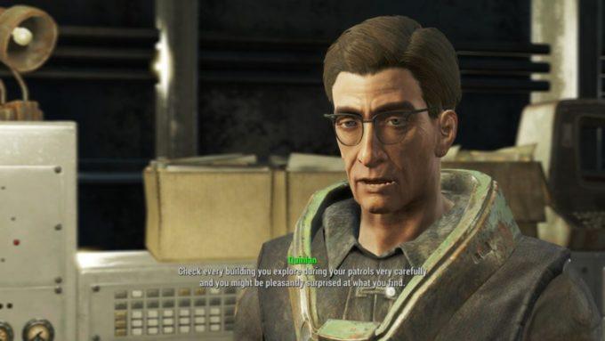 Fallout 4 での英会話の例