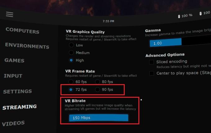 Virtual Desktop Setting for Oculus Quest2