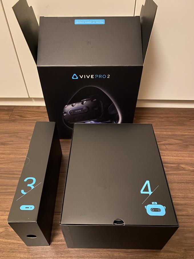 VIVE Pro 2 boxes